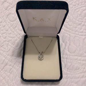 Kay Jewelers white gold necklace